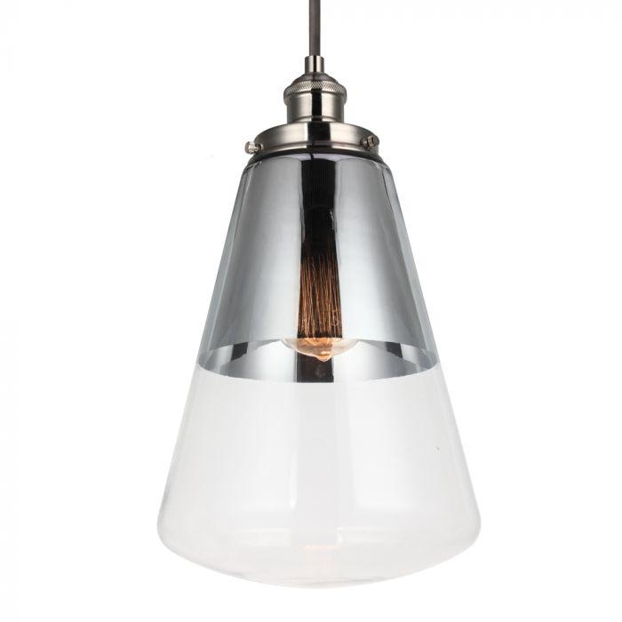 Feiss Waveform 1 Light Pendant In Polished Nickel Lights Ceiling