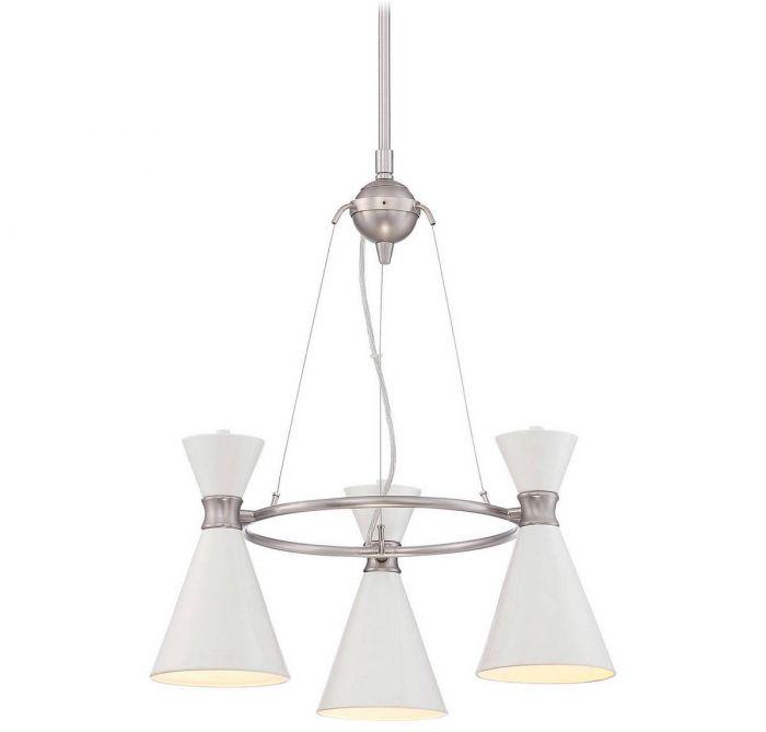 George kovacs conic 3 light mini chandelier in glitter gloss white george kovacs conic 3 light mini chandelier in glitter gloss white mini chandeliers chandeliers aloadofball Gallery