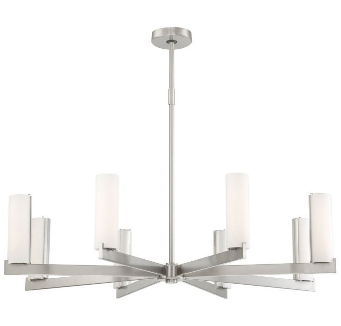 George Kovacs Led Chandelier In Brushed Nickel Contemporary Chandeliers