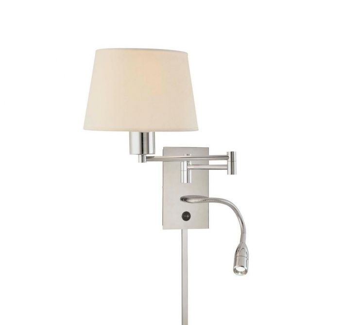 wall reading lamp. George Kovacs Task Wall Sconces Swing Arm Reading Lamp In Chrome - Lights Y