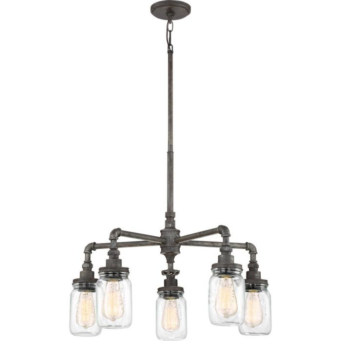 Quoizel squire 26 5 light clear glass chandelier in rustic black quoizel squire 26 5 light clear glass chandelier in rustic black chandeliers free 2 day delivery aloadofball Gallery