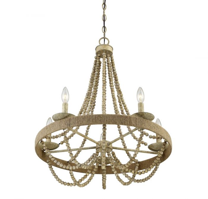 Trade winds lighting rustic 5 light chandelier in natural wood with tw020156 97g aloadofball Choice Image