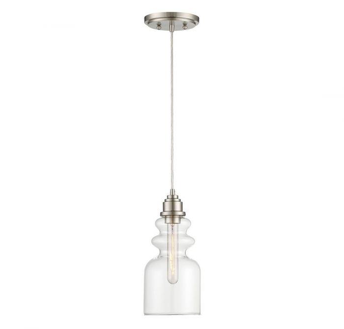 TW021191BN.jpg  sc 1 st  LightsOnline.com & Trade Winds Lighting Insulator 1-Light Mini Pendant in Brushed ...