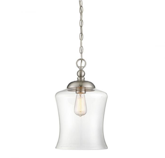 Trade winds lighting bell 1 light mini pendant in brushed nickel tw021214bng aloadofball Choice Image