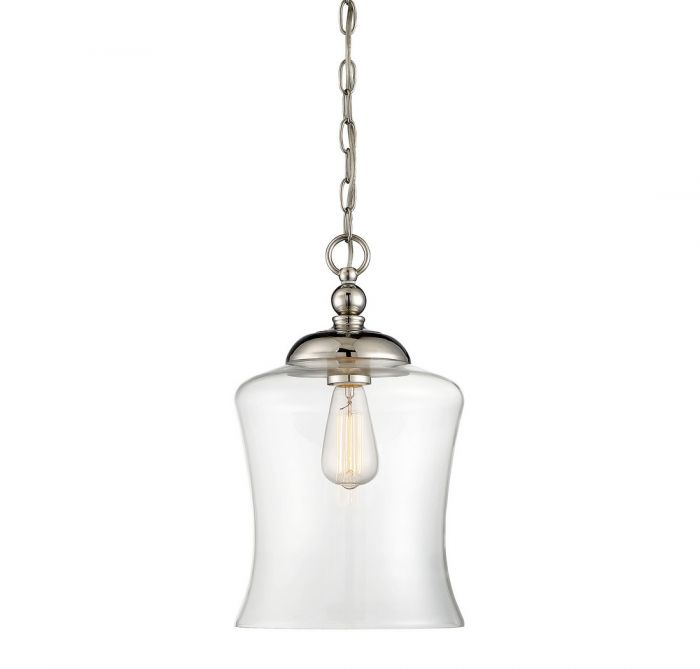 Trade winds lighting bell 1 light mini pendant in polished nickel tw021238png aloadofball Choice Image
