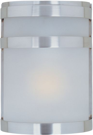 """Maxim Lighting Arc 9"""" Outdoor Wall Light in Stainless Steel"""