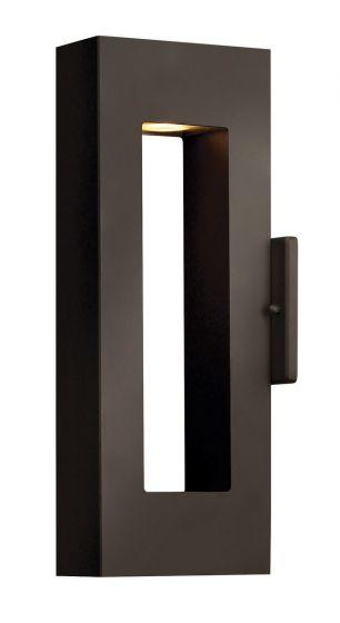 Hinkley Atlantis Dark Sky LED 2-Light Outdoor Small Wall Light in Bronze
