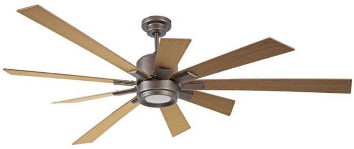 "Craftmade Katana 72"" Ceiling Fan w/ Rustic Oak Blades in Espresso"