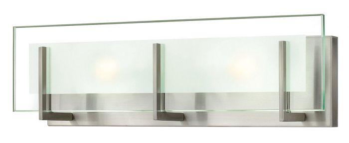 """Hinkley Latitude 18"""" Bathroom Vanity Light in Brushed Nickel"""