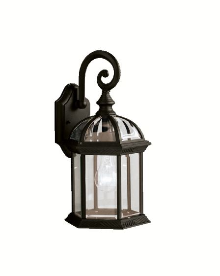 "Kichler Barrie 1-Light 15.5"" Outdoor Medium Wall in Black Finish"