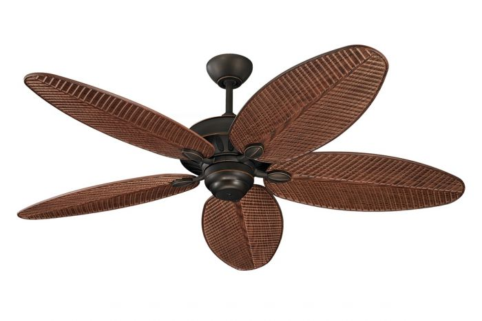 """Monte Carlo 52"""" Cruise Outdoor Wet Rated Ceiling Fan in Roman Bronze"""