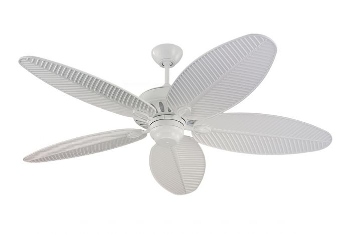 """Monte Carlo 52"""" Cruise Outdoor Wet Rated Ceiling Fan in White"""