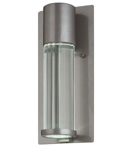 """The Great Outdoors Soare 11"""" Outdoor Wall Light in Tinted Silver"""