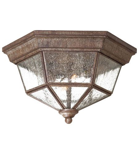 The Great Outdoors Taylor Court 2-Lt Outdoor Flush in Rust