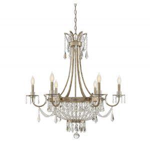 Savoy House Claiborne 6-Light Chandelier in Avalite