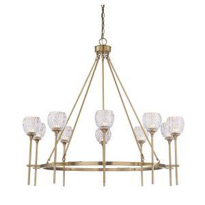 Savoy House Garland 10-Light Chandelier in Warm Brass