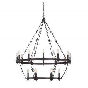 Savoy House Adria 18-Light Chandelier in English Bronze