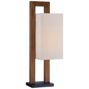 Minka Lavery 1-Light Table Lamp in Walnut