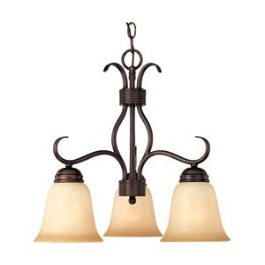 Maxim Lighting Basix 3-Light Chandelier in Oil Rubbed Bronze