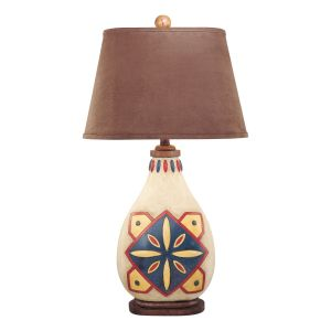 Minka Lavery Ambience Hand Painted Table Lamp in Brown