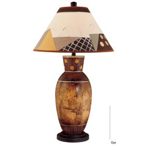 Minka Lavery Ambience Obscure Browns Table Lamp