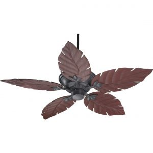 "Quorum Monaco 52"" 5-Blade Patio Fan in Toasted Sienna"