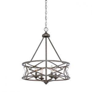 Millennium Lighting Lakewood 4-Light Chandelier in Antique Silver