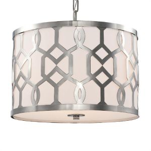 "Crystorama Jennings 18.3"" 3-Light Chandelier in Polished Nickel"