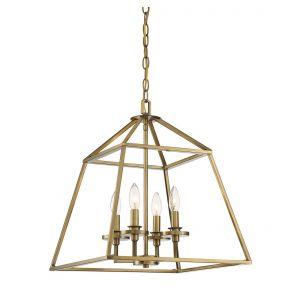Savoy House Braxton 4-Light Pendant in Warm Brass