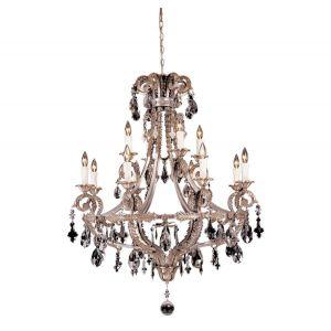 Savoy House Luis XVI - Mid XVII 6-Light Foyer Lantern in Silver