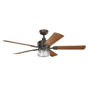 """Kichler Lyndon Patio 60"""" Ceiling Fan in Olde Bronze"""