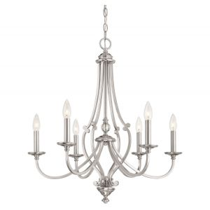 Minka Lavery Savannah Row 6-Light Chandelier in Brushed Nickel