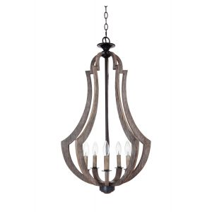 Jeremiah Lighting Winton 5-Light Foyer in Weathered Pine