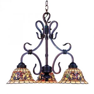Landmark Tiffany Buckingham 3-Light Chandelier