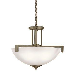 Kichler Eileen 3-Light Pendant/Semi-Flush in Olde Bronze