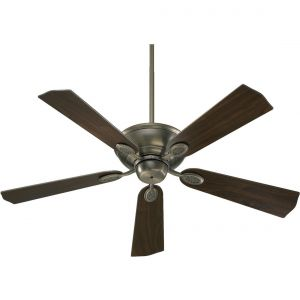 "Quorum Kingsley 52"" 5-Blade Indoor Ceiling Fan in Antique Silver"