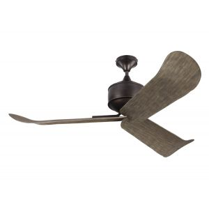 """Monte Carlo 56"""" Dylan Wet Rated Ceiling Fan in Aged Pewter"""