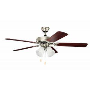 "Kichler Basics Premier 52"" Ceiling Fan in Brushed Nickel"