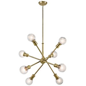 Kichler Armstrong 8-Light Chandelier in Natural Brass