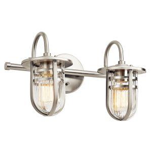 Kichler Caparros 2-Light 2-Arm Bath Vanity in Brushed Nickel