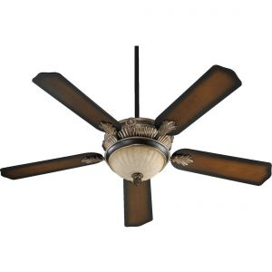 "Quorum Galloway 52"" 3-Light Ceiling Fan in Old World/Antique Flemish"