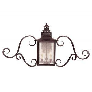 Savoy House Monte Grande 3-Light Outdoor Wall Lantern w/Scroll - Bronze