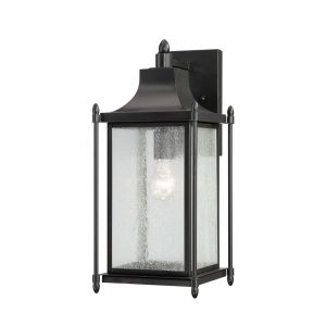"""Savoy House Dunnmore 18"""" Outdoor Wall Lantern in Black"""