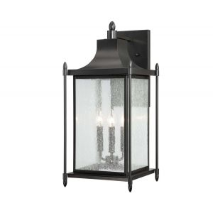 Savoy House Dunnmore 3-Light Outdoor Wall Lantern in Black