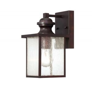 "Savoy House Newberry 11"" Outdoor Wall Lantern in English Bronze"