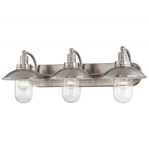 Minka Lavery Downtown Edison 3-Light Bath Vanity in Brushed Nickel