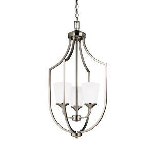 Sea Gull Lighting Hanford 3-Light Hall / Foyer in Brushed Nickel