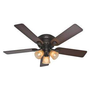 """Hunter Reinert 52"""" Ceiling Fan in Premier Bronze"""