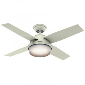 "Hunter Dempsey 44"" 2-Light LED Indoor Ceiling Fan in White"