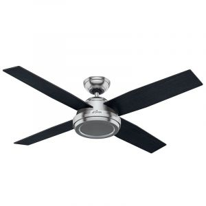"Hunter Dempsey 52"" Indoor Ceiling Fan in Brushed Nickel/Chrome"